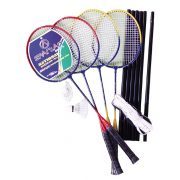 Easy 4 Tollaslabda szett / Badminton készlet 4 ütővel hálótartóval,