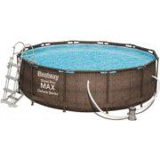 Steel Pool Pro max 366 x 100cm rattan színű fémvázas