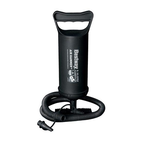Talpas kemping mini pumpa (30 cm) fekete, 0,85 L kapacitás/löket,