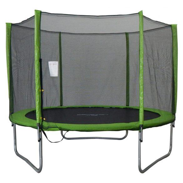 Capetan® Omega 244 cm átm. trambulin védőhálóval Lime színben -