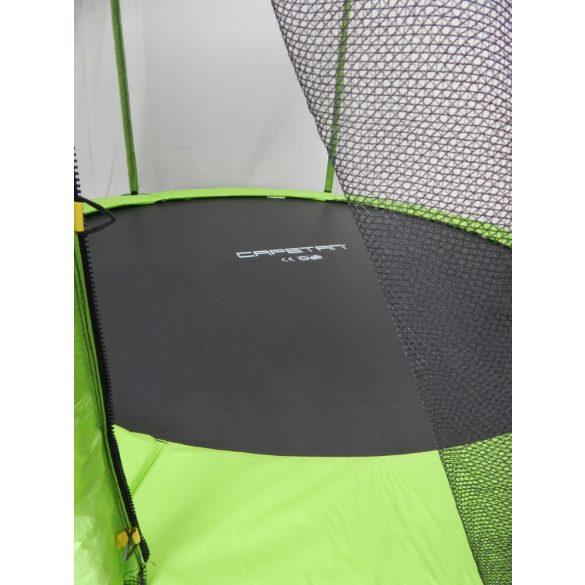 Capetan® Omega 244cm átm. trambulin védőhálóval Lime színben - megerősített vázszerkezetű prémium trambulin védőhálóval