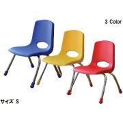 Tactic color óvodai rakásolható fém vázas szék műanyag palásttal, piros