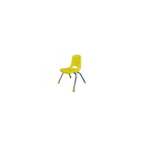 Tactic color óvodai rakásolható fém vázas szék műanyag palásttal, SÁRGA