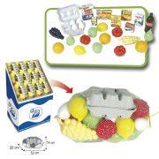 Játék bevásárló szett boltos és konyhai szerepjátékok ételválogatás nagy készlet