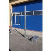 Mobil extra stabil gördíthető röplabda állvány 12x30 kg ellensúllyal, 155-243 cm között háló állítás lehetőségével