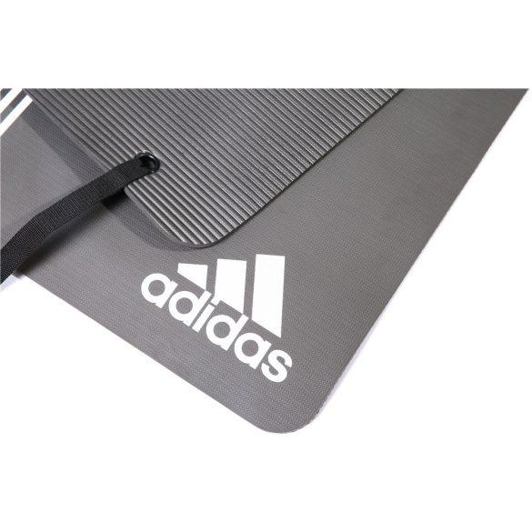 Adidas Elite 173x61x0,8cm professzionális tornaszőnyeg fém akasztólukakkal Fehér logoval