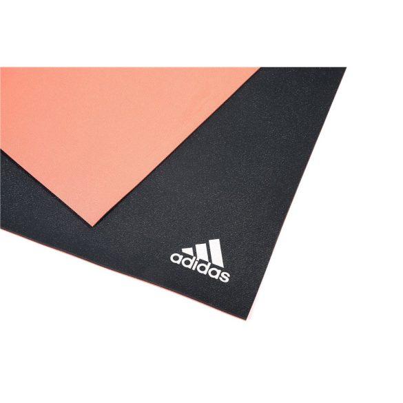 Adidas Kétrétegű yogaszőnyeg, 173x61x0,6cm,  piros/szürke