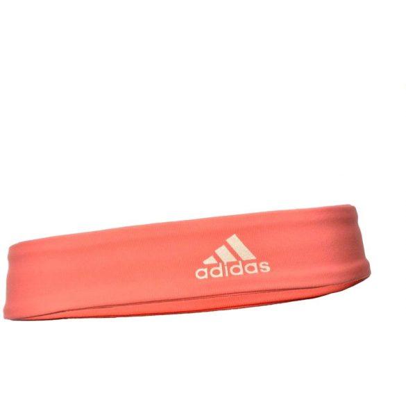 Adidas fejpánt lazac piros, uni méret
