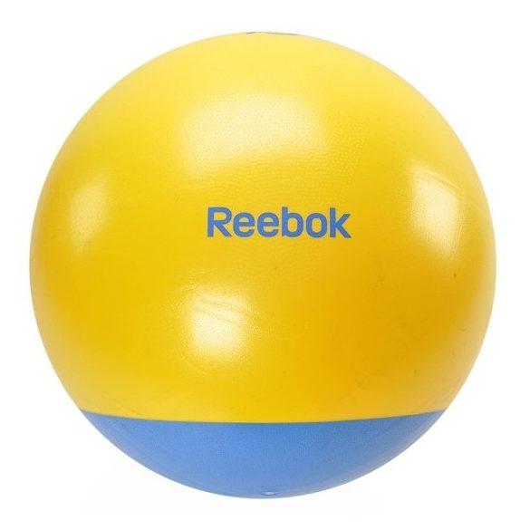 Reebok 65cm átm. sárga-cián színű kéttónusú gimnasztikai labda (fitball)+ DVD