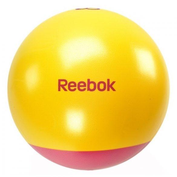 Reebok 65cm átm. sárga-magenta színű kéttónusú gimnasztikai labda + DVD