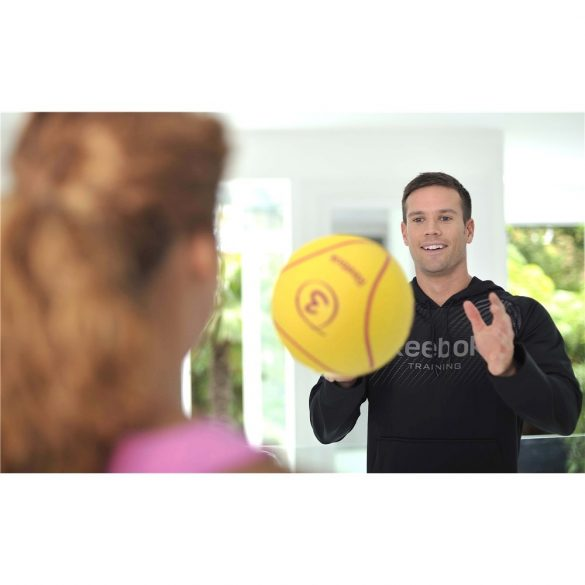 Reebok 3Kg sárga színű 23cm átmérőjű pattanó medicinlabda, professzionális edzőtermi