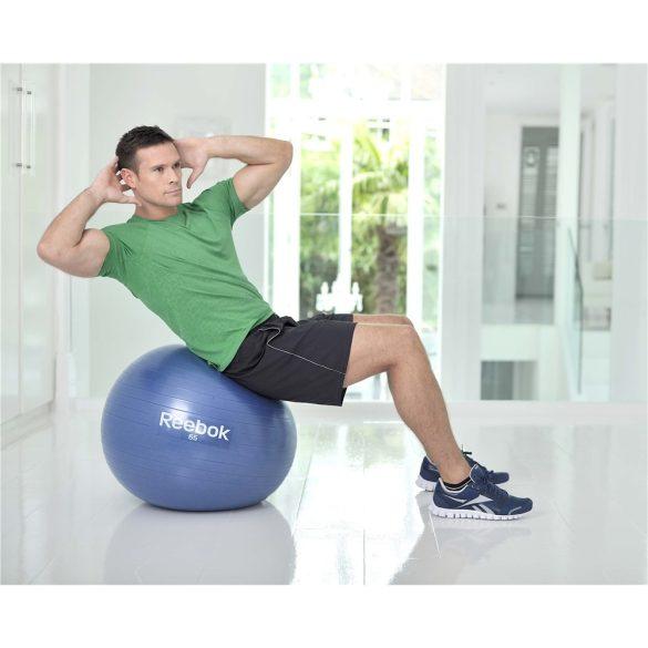 Reebok 65cm gimnasztika labda kék színben