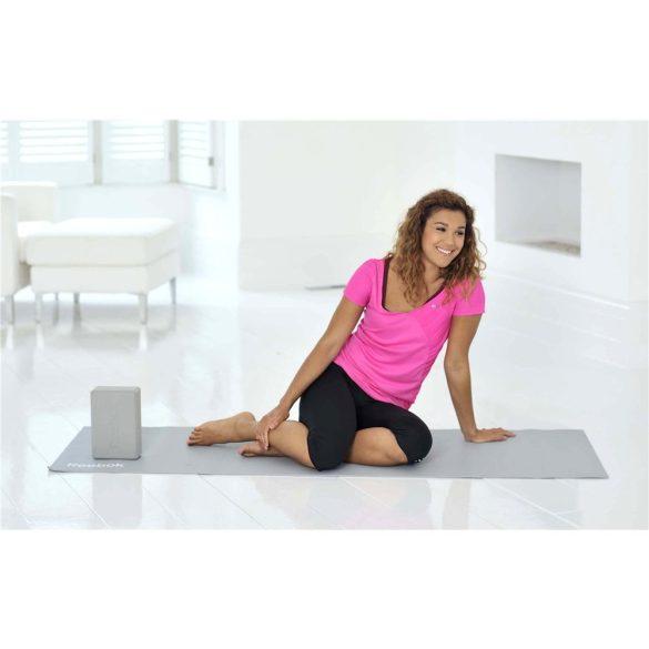 Reebok Yoga szett , jóga kocka , jóga pánt és szőnyeg szürke színű