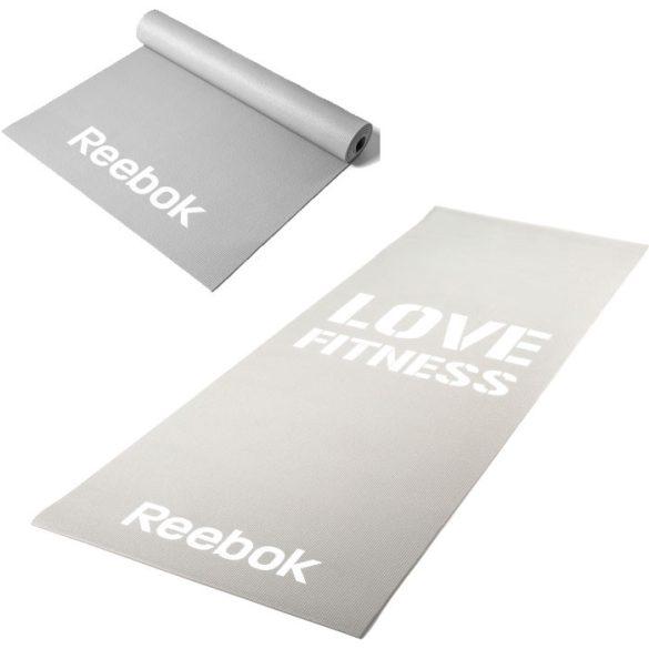 Reebok 173x61x0,4cm szürke Love Fitness feliratos tornaszőnyeg