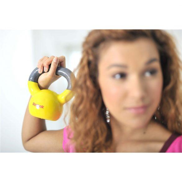 Reebok 5Kg sárga színű gumi bevonattal ellátott kettlebell