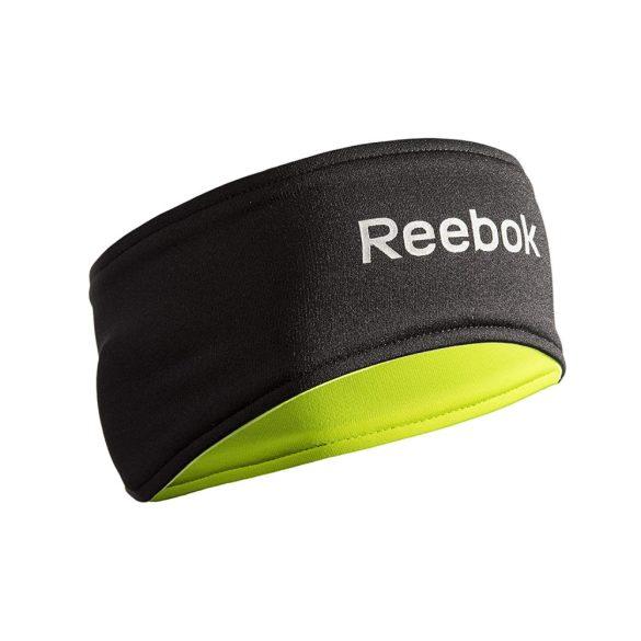 Reebok neonzöld/fekete kifordítható fülvédős fejpánt futáshoz