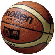 Molten GL7 valódi bőr versenylabda, 7-es méret, FIBA minősített mérközéslabda