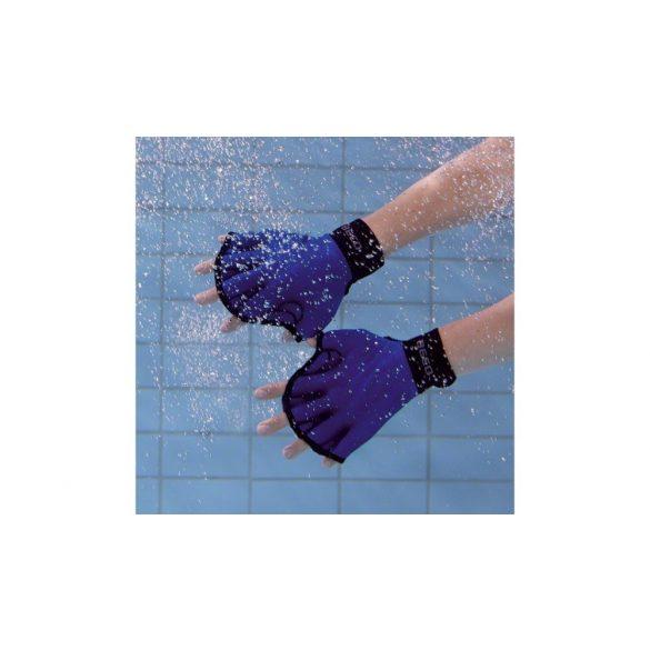 Neopren aquafitnesskesztyű pár (békakesztyű) L méret, nyitott ujjvéggel