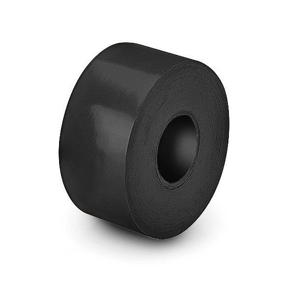 Pályajelölő csík fekete, padlóra ragasztható öntapadós