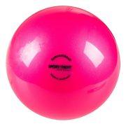 Ritmikus gimnasztika labda gyakorló, csillogó magasfényű, 16 cm átmérőjű, 300gr.