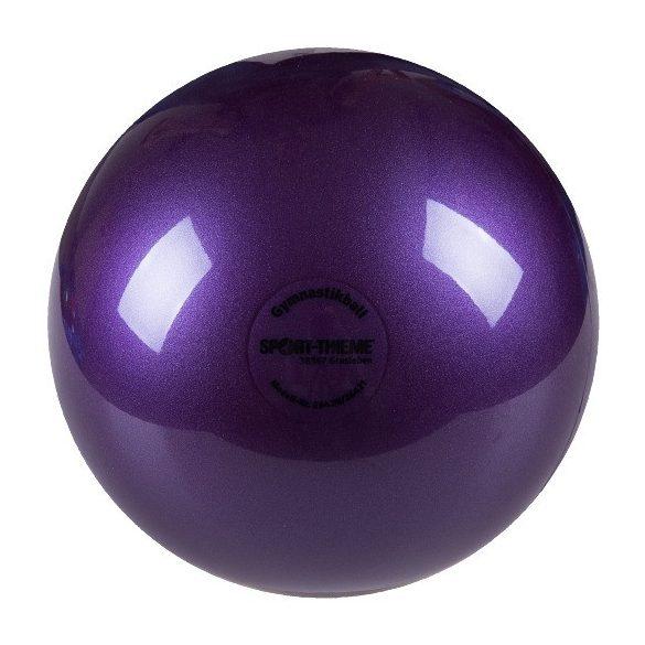 Ritmikus gimnasztika labda gyakorló, csillogó magasfényű, 16 cm átmérőjű, 300gr.súlyú