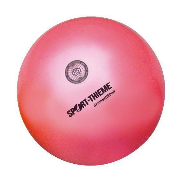 Ritmikus gimnasztika versenylabda, gyöngyház magasfényű, 19 cm,420g - intenzív pink