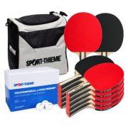 Asztalitenisz szett 12 db haladó pingpong ütővel Sport-Thieme, 144 labdával