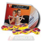 Elastiband fitnesz erősítő gumipánt + DVD,  10 kg-os közepes