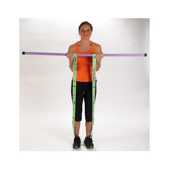 Elastiband® fitnesz erősítő gumipánt Multi közepes erősség, gumival átszőtt elastiband