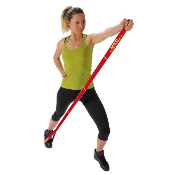 Elastiband® fitnesz erősítő gumipánt Maxi hosszú, piros színű, 10 kg