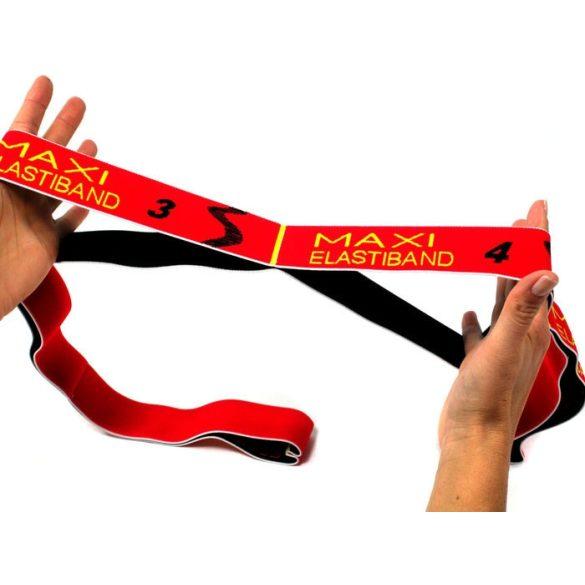 Elastiband® fitnesz erősítő gumipánt Maxi hosszú,  piros színű, 10