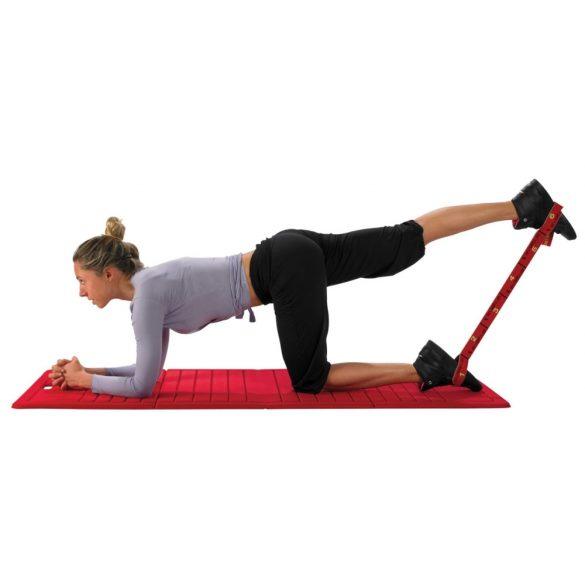 Elastiband® fitnesz erősítő gumipánt közepes ellenállás, 10 kg erősségű piros