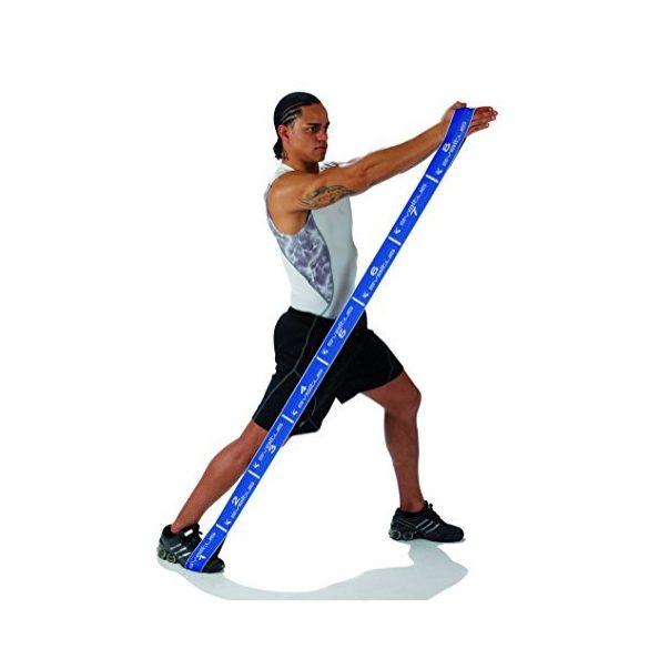 Elastiband® Fitness erősítő gumipánt , kék 20 kg erős ellenállás,