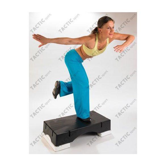 Szteppad Sveltus Eco fitness az eredeti - Fekete step pad, rakásolható, opcionálisan magasítható,  80x40x14,8cm