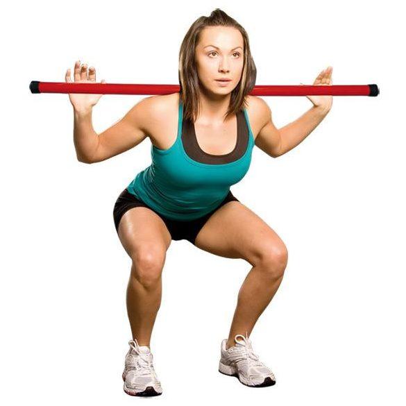 Nehezített tornabot 1,5 kg fitnesz gyakorlatokhoz 105 cm hossz, narancs