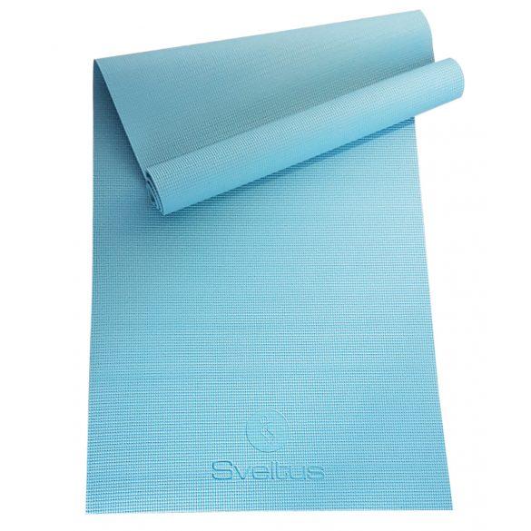 Jogaszőnyeg prémium minőség, stúdió használatra égkék, felfüggeszthető tornaszőnyeg, 170x60x0,5 cm