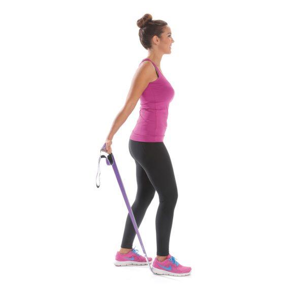 Elastiband multi fitnesz szalag gumírozott , 15 kg ellenállás, lila