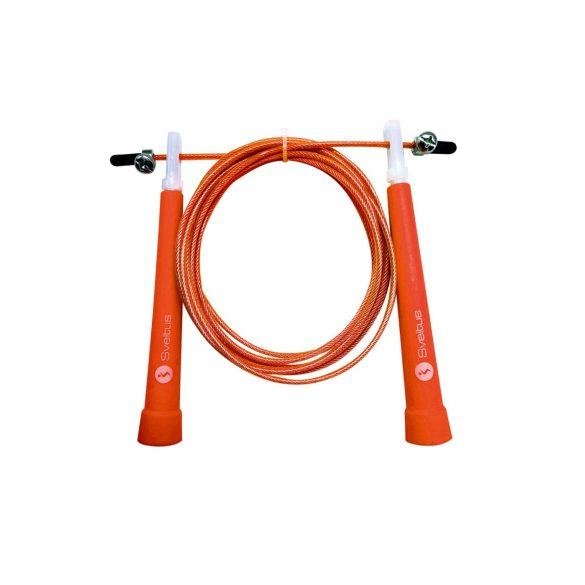 Sveltus ugrálókötél 3m hosszú, fémkábeles, állítható hosszal , narancs szín