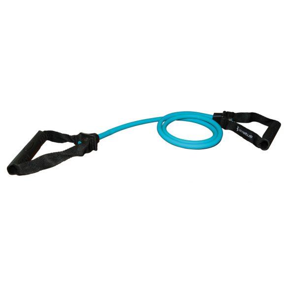 Fitnesz tube gumikötél edzőtermo használatra, gyenge közepes erősségű, kék