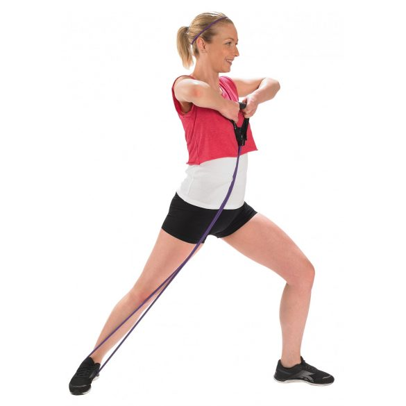Fitness Tube gumikötél edzőtermi használatra is megfelelő, közepesen erős, lila