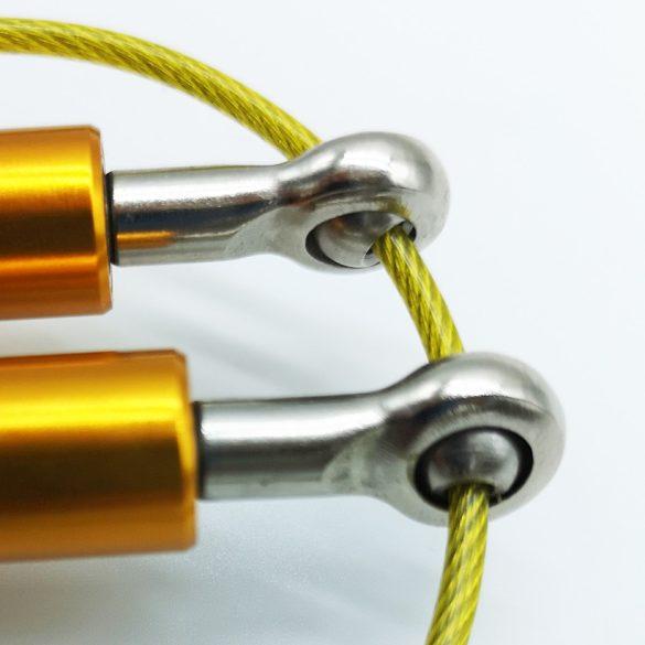 Alumínium nyeles 360 fokban forgó pvc bevonatos fémkábeles ugrálókötél