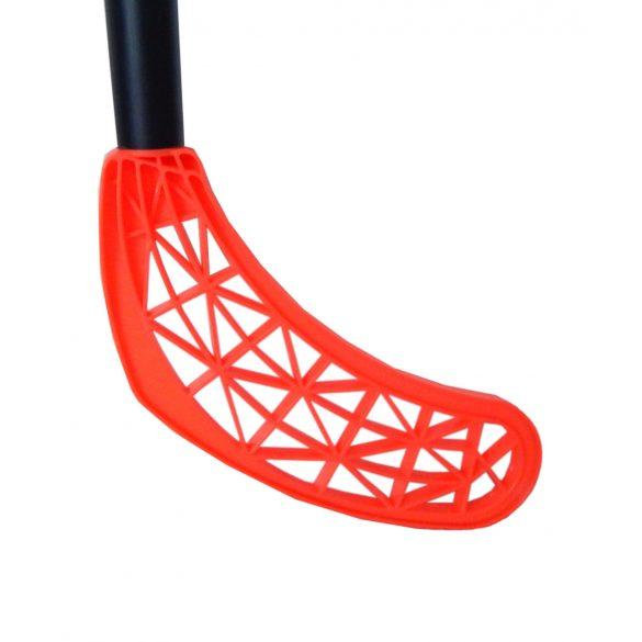 Floorball Poppis junior egyedi ütő 85/96 cm élénk színű fej - fekete nyél- street hockey junior ütő