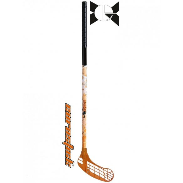 Floorball ütő grippes Acito Splash Orange 106/ 95 cm mintás