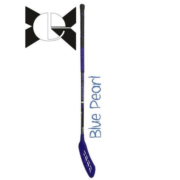 Floorball ütő Blue Pearl , IFF  grippes kék verseny ütő 96/108 cm jobbra ívelő fejjel