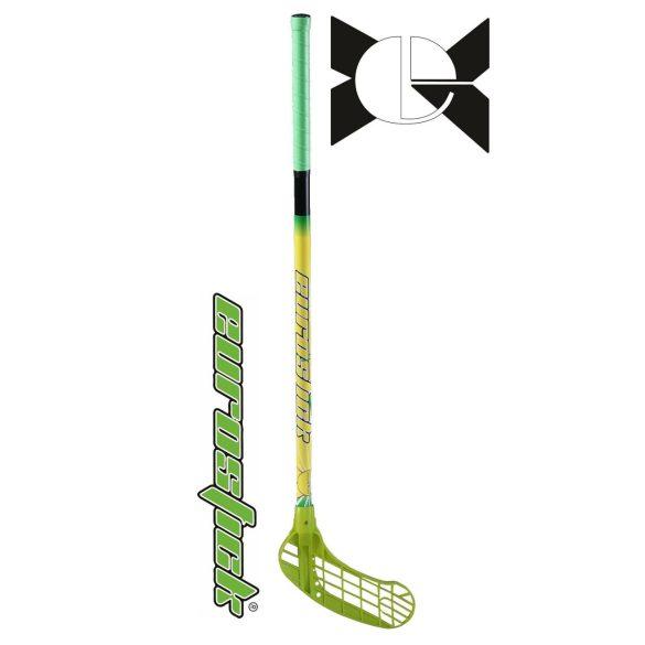 Floorball grippes egyedi senior űtő Eurostic Force One Green 95/106 cm nyél és balra ívelő fej