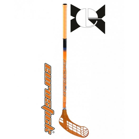 Floorball grippes egyedi senior űtő Eurostic Force One Orange 95/106 cm nyél és balra ívelő fej