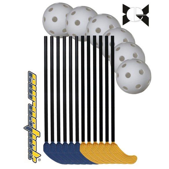 Floorball svéd iskolai/óvodai 18 részes Mini Kid szett 65/75 cm
