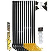 Floorball svéd iskolai ABS 15 részes szett Alpha , 95/107 cm flexibilis nyél