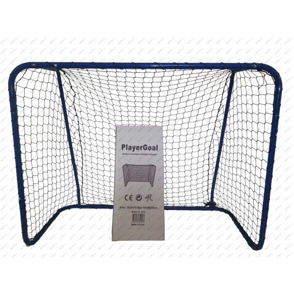 Acito floorball kapu PLAYER GOAL 115x90x50 cm, univerzális kiskapu hálótartó merevítővel és hálóval extra stabil