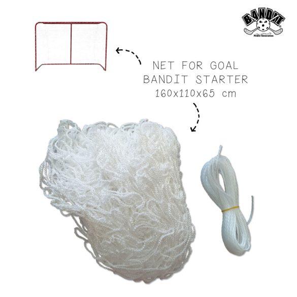 Starter 160x110 cm kapuhoz 4x4 cm osztású polyester fehér pótháló
